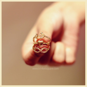 Twirled Motif Ring Set - Gold - Trinket Square