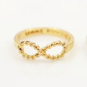 Twirly Infinity Ring - Gold - Trinket Square