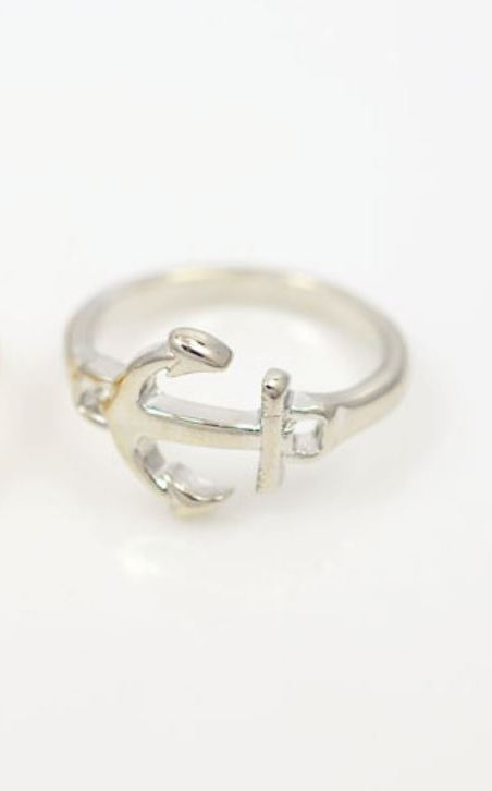 Anchor Ring - Silver - Trinket Square
