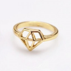 Diamond Ring - Gold - Trinket Square