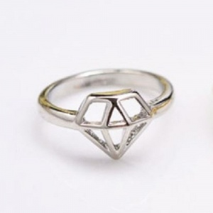 Diamond Ring - Silver - Trinket Square