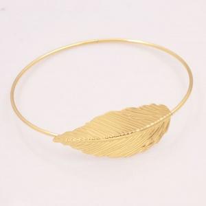 Gold Leaf Bangle - Trinket Square (2)
