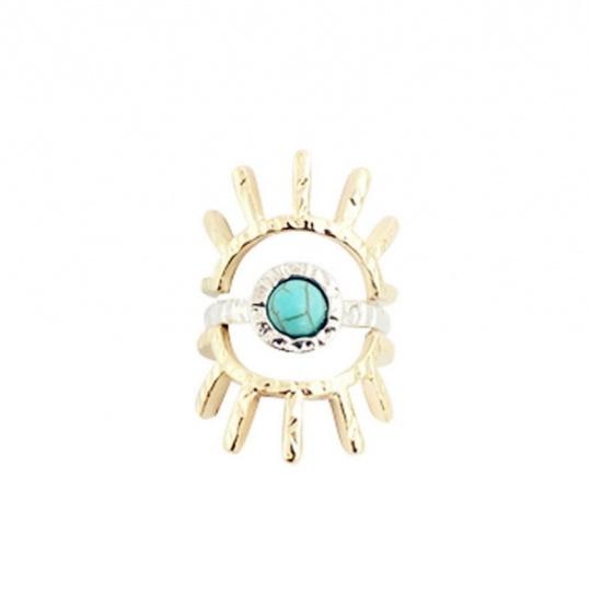 Turquoise Sun Ring Set - Trinket Square (3)