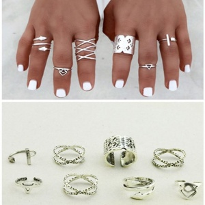 Silver Native Ring Set - Trinket Square (2)