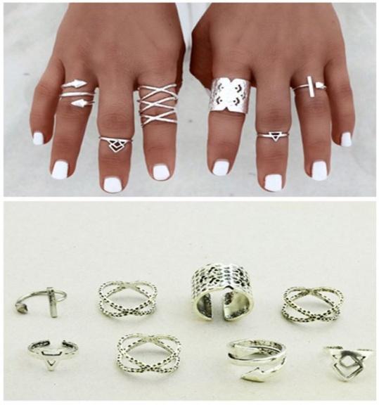 Silver Native Ring Set - Trinket Square (2)