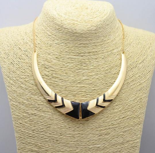 Gold & Black Tribe Necklace - Trinket Square (2)
